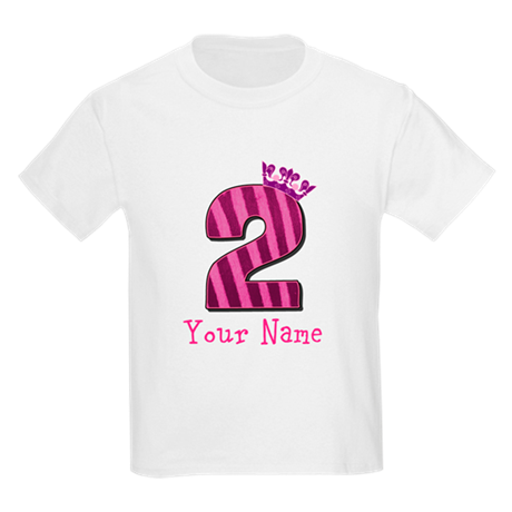 Custom 2nd Birthday Kids Light T-Shirt