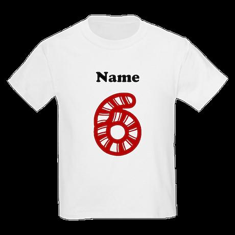 Personalized Christmas 6 Kids T-Shirt
