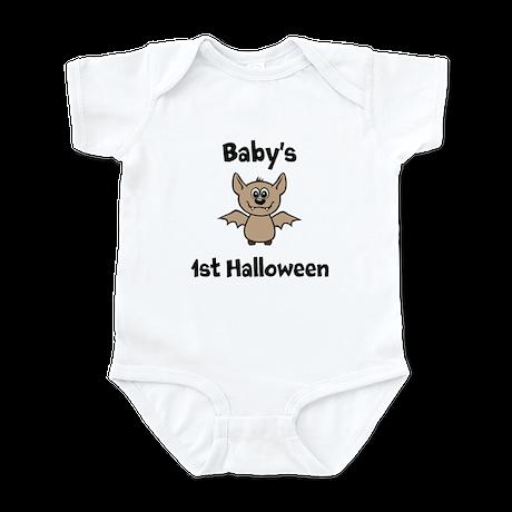 [NAME]'s 1st Halloween Bat Infant Bodysuit