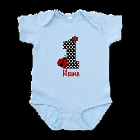 1st Birthday Ladybug Infant Bodysuit