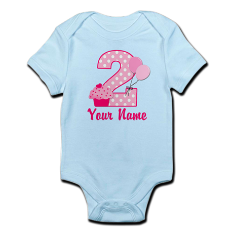 2nd Birthday Cupcake Infant Bodysuit