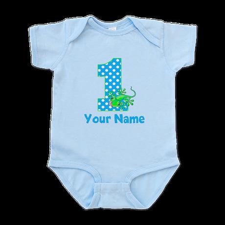 1st Birthday Boy Gecko Infant Bodysuit