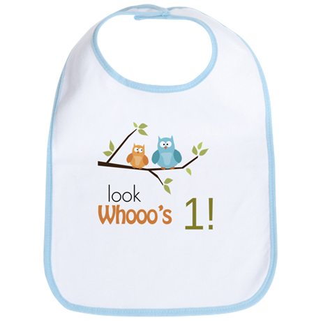 Custom Owl Birthday Bib