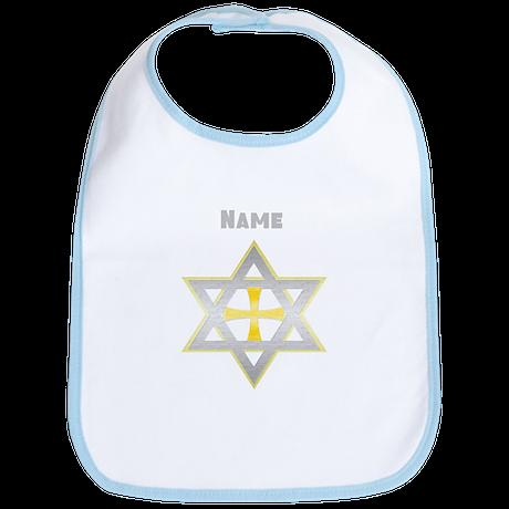 Star of David and Cross Bib
