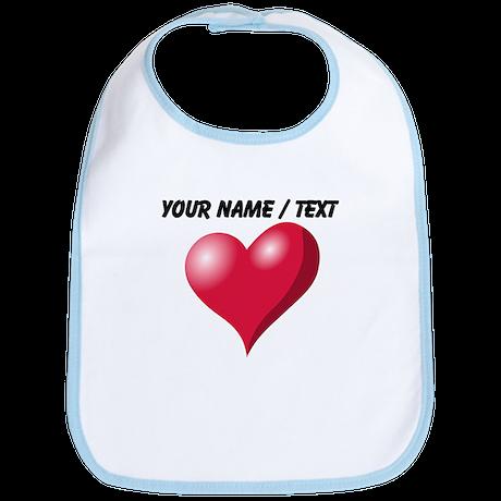 Custom Pink Heart Bib