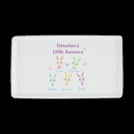 Grandmas little bunnies custom Cocktail Platter