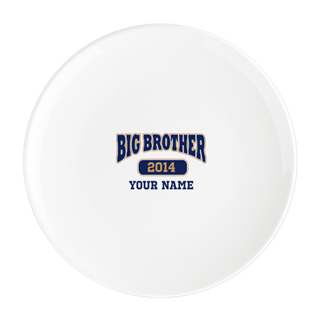Personalized Big Brother Round Cocktail Plate