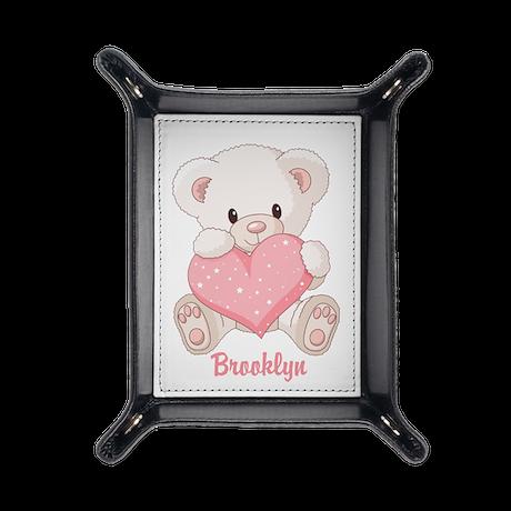 Custom name valentine bear Travel Valet
