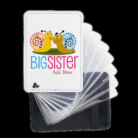 Add Name Big Sister Leather Card Holder