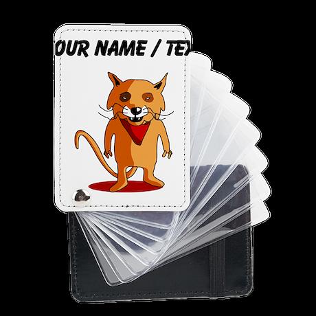 Custom Red Fox Cartoon Leather Card Holder
