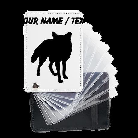 Custom Fox Silhouette Leather Card Holder
