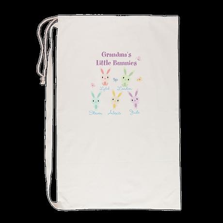 Grandmas little bunnies custom Laundry Bag
