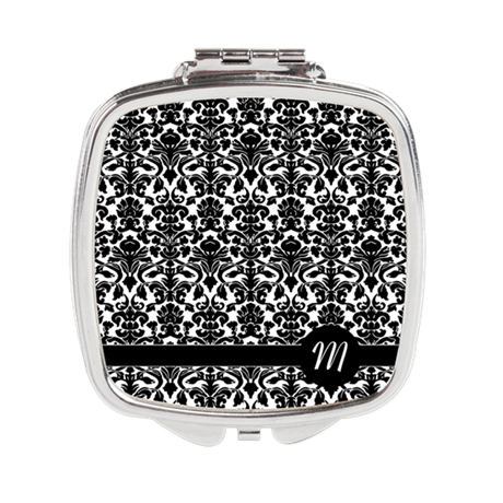 Damask Monogram Compact Mirror