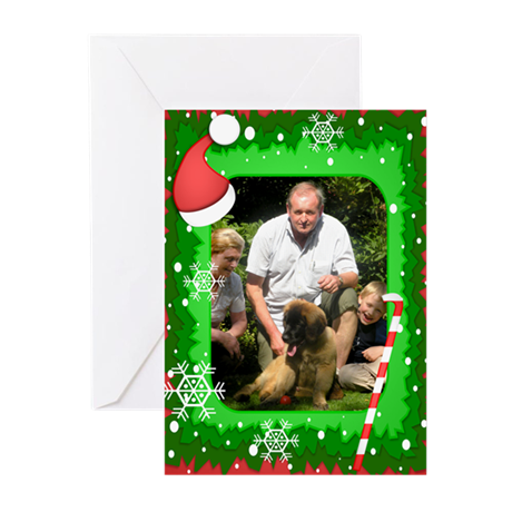 Personalizable Christmas Photo Frame Greeting Card