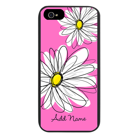 Whimsical Flowers - pink iPhone 5 Case