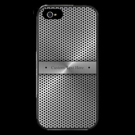 Custom Steel Plate iPhone 5 Case