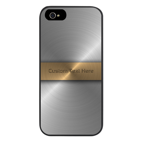 Gold And Steel iPhone 5 Case