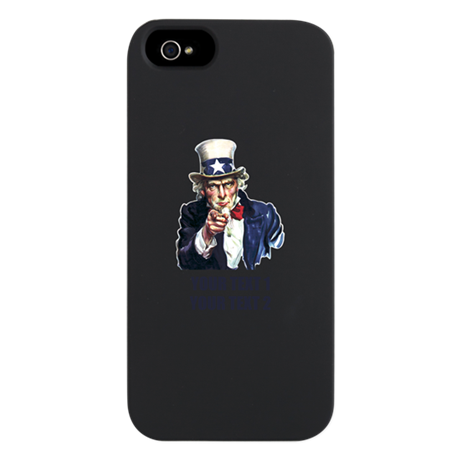 [Your text] Uncle Sam iPhone 5 Case