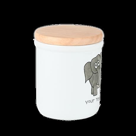 Elephant. Custom Text. Sugar Container