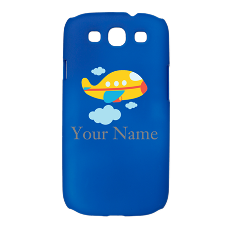Personalized Yellow Airplane Galaxy S3 Case