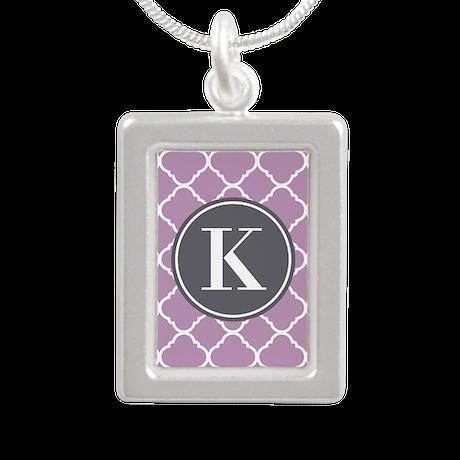 Custom Purple Pattern Necklace