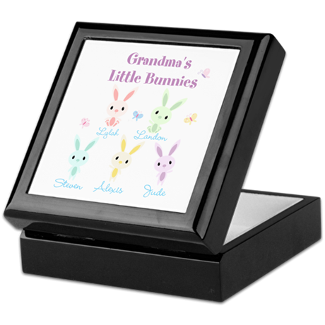 Grandmas little bunnies custom Keepsake Box
