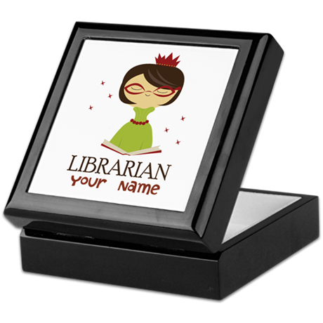 Personalized Library Lady Keepsake Box