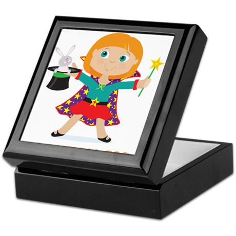 Girl Magician Keepsake Box