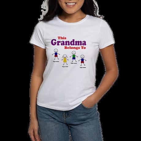Personalized Grandma 4 kids Women's T-Shirt