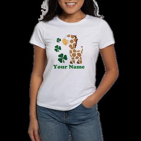 Personalized Irish Giraffe Women's T-Shirt