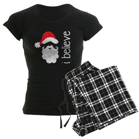 I Believe Womens Christmas Pajamas