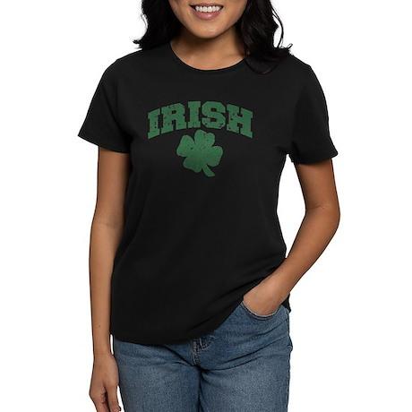 Worn Irish Shamrock Women's Dark T-Shirt