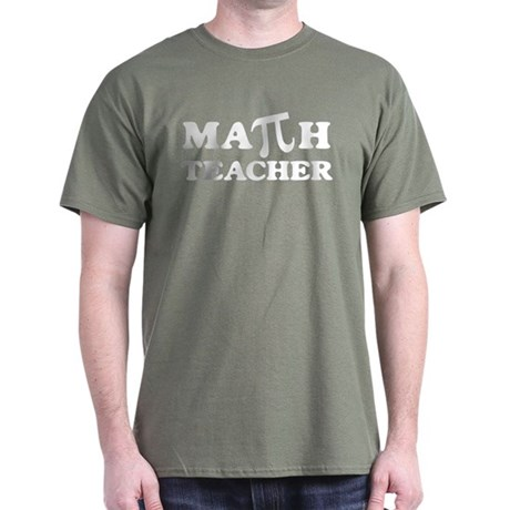 Math Teacher PI Dark T-Shirt