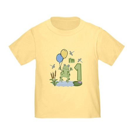 Froggie 1st Birthday Baby/Toddler T-Shirt