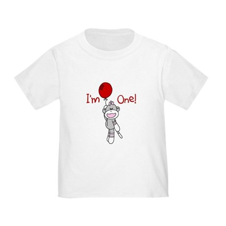 Sock Monkey 1st Birthday Toddler T-Shirt