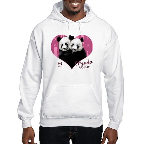 I Love Panda Bears Hooded Sweatshirt