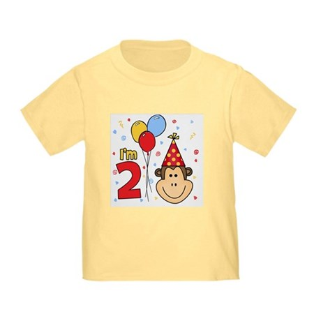 Monkey Face 2nd Birthday Infant/Toddler T-Shirt