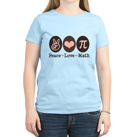 Peace Love Math Pi Women's Light T-Shirt