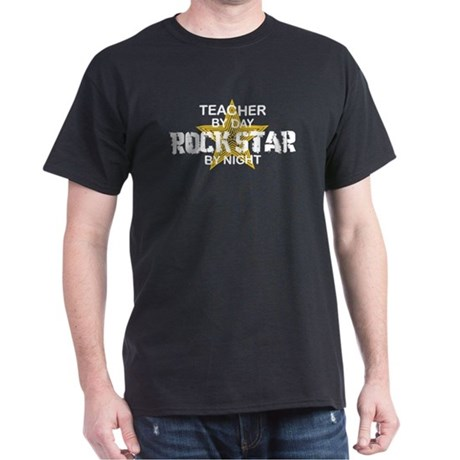 Teacher RockStar by Night Dark T-Shirt