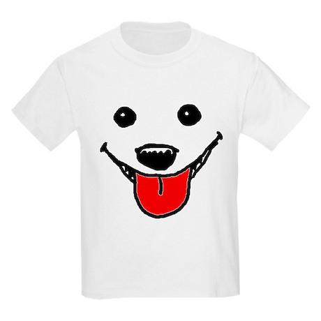 Happy Dog Face Kids Light T-Shirt