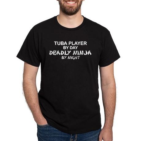 Tuba Player Deadly Ninja Dark T-Shirt