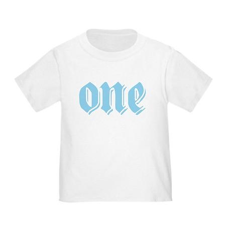 ONE birthday boy blue Toddler T-Shirt