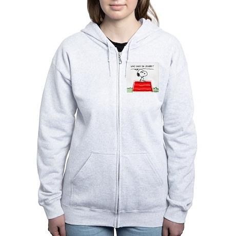 Crabby Snoopy Women's Zip Hoodie