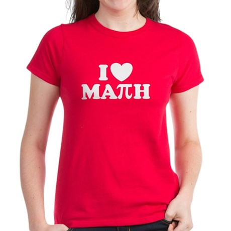 I Love Math Pi Women's Dark T-Shirt