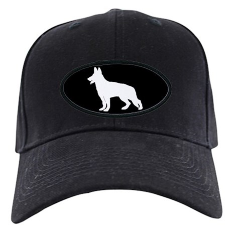 White German Shepherd Black Cap