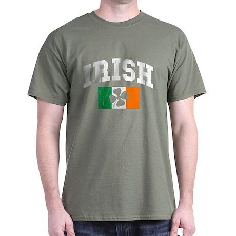 Irish Flag (Distressed) Dark T-Shirt