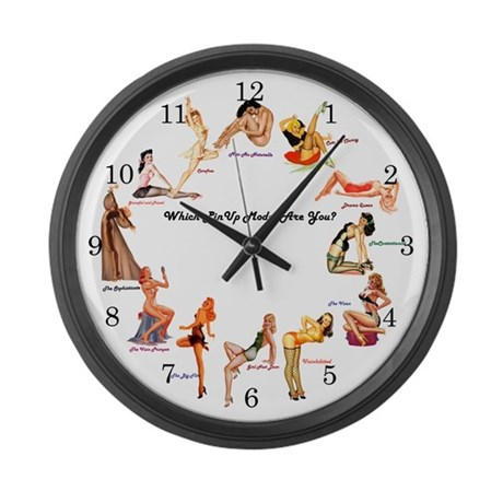 Pin-up Girls Large Wall Clock