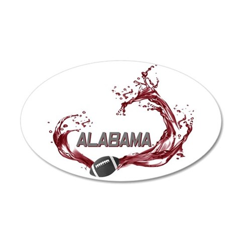 Alabama crimson tide wall decals alabama crimson tide for Alabama football mural