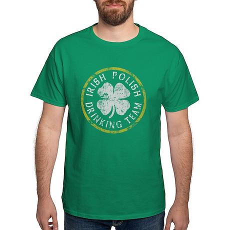 Irish Polish Drinking Team Dark T-Shirt