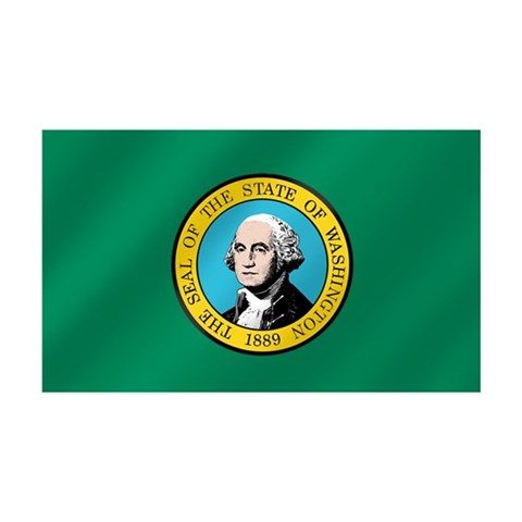 Washington State Flag 38.5 x 24.5 Wall Peel 35x21 Wall Decal